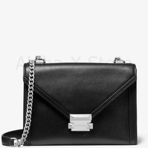 NWT Michael Kors Whitney Large Leather Convertible